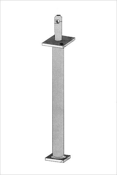 1 st st tzenfu sr mit dorn 400 mm rohrdolle. Black Bedroom Furniture Sets. Home Design Ideas