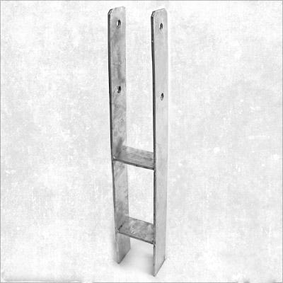 1 st pfostentr ger h form 121 mm 600 mm feuerverzinkt eisenwaren heck. Black Bedroom Furniture Sets. Home Design Ideas