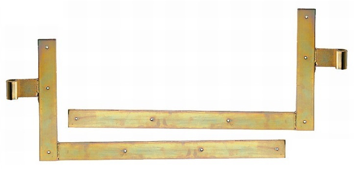 1 paar winkelband f r schwere tore 20er rolle 400x800 mm gelb verzinkt eisenwaren heck. Black Bedroom Furniture Sets. Home Design Ideas